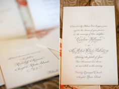 Real Wedding: Caroline and Withers Calligraphy by Boo Owens Engraved Invitations with Embossed Crest by Kyle Fine Stationery and Belle Invito