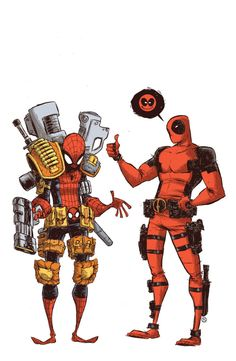 Deadpool & Spidey - Skottie Young