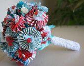 Pinwheel Paper Flower Bride's Bouquet