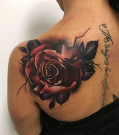 rose tattoo © Gino Genoski Gaspara