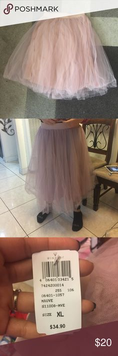 Tutu shirt Was used once for a maternity shoot, still has tag, color is mauve, kind has a pink tone. Runs a little small like a large or medium WINDSOR Skirts