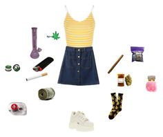 """""""Untitled #218"""" by dead-head-dolly ❤ liked on Polyvore featuring Glamorous, WithChic, Buffalo, HUF, xO Design, Hello Kitty and INC International Concepts"""