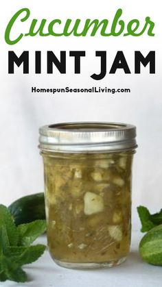 Mint Recipes, Jelly Recipes, Sugar Free Recipes, Jam Recipes, Vegan Recipes, Dessert Recipes, Cucumber Canning, Food To Make, Making Food