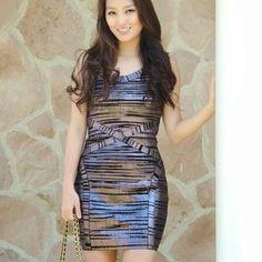 tamar Dresses - Pewter bandage dress