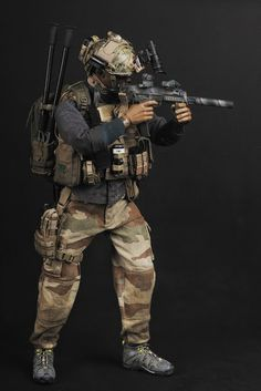 Check out this upcoming Soldier Story release of a scale French Special Forces figure Military Action Figures, Custom Action Figures, Gi Joe, Airsoft, Police, Tactical Operator, Military Special Forces, Mens Toys, Tac Gear