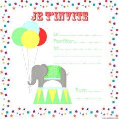 invitation circus birthday free printables