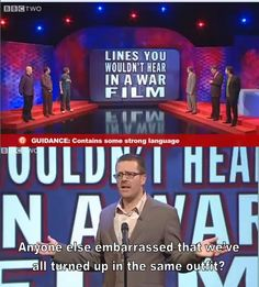 Lines you wouldn't hear in a war film | Frankie Boyle | Mock the Week