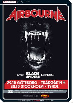 AIRBOURNE | Support: Black Spiders and Corroded |