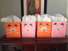 Cat party favor bags