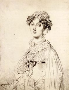 Jean Auguste Dominique Ingres, portrait of Lady William Henry Cavendish Bentinck (born Lady Mary Acheson), 1816 Mass Drawing, Drawing Sketches, Drawings, Drawing Reference, Mode Renaissance, Jean Leon, Lazuli, Lady Mary, Auguste