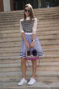 Looks de moda usando sneakers 2014 | ActitudFEM