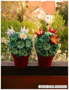 Origami Cacti made for friends and family.