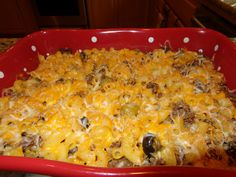 Baked Beef Mac and Cheese