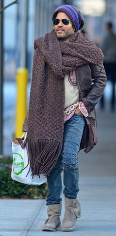 """Someone needs to design a giant scarf and call it, """"Lenny Cravatz"""""""