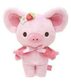 San-X Piggy Girl Strawberry Sweets Party Plush Doll