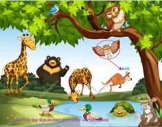 Many wild animals in the park vector image on VectorStock Wild Animal Park, Wild Park, Farm Animals, Wild Animals, Park City, Cute Girls, Vector Free, Disney Characters, Fictional Characters