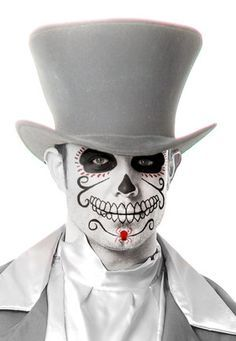 sugar skull face paint men - Google Search