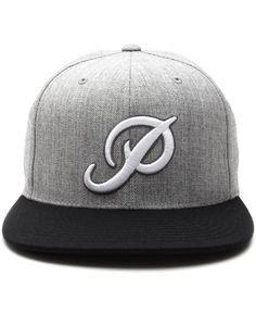 Primitive - Classic P Snapback Cap (Grey/Black)