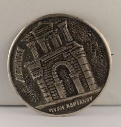 Vintage 800 Silver Greek Athens Tourist Brooch Vintage Rings, Athens, Greek, Brooch, Personalized Items, Antiques, Silver, Antiquities, Antique