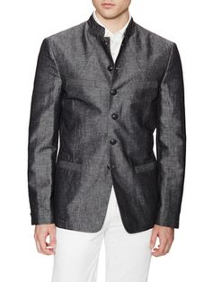 Banded Collar Jacket from Casual Blazers Under $150 on Gilt