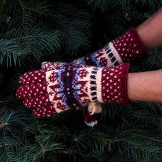 Fair Isle Norwegian Gloves by Dom Klary by domklary on Etsy, $35.00