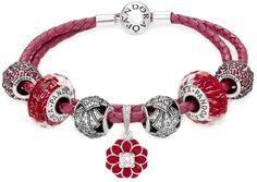 Pandora Oriental Bloom Double Woven Leather Bracelet