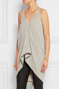 Rick Owens | Pleated crepe top | NET-A-PORTER.COM