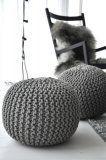 pletený puf - návod