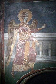 Church Icon, Life Of Christ, Byzantine, Fresco, Saints, Luke 1, Christian, Angels, Painting