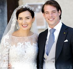 Newlyweds: Prince Felix and his longtime love Claire Ladermacher. The couple had tied the knot in an intimate civil ceremony three days befo...