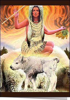 White Buffalo Calf Woman Native American Goddess who brought Herbal Medicine and The Pipe