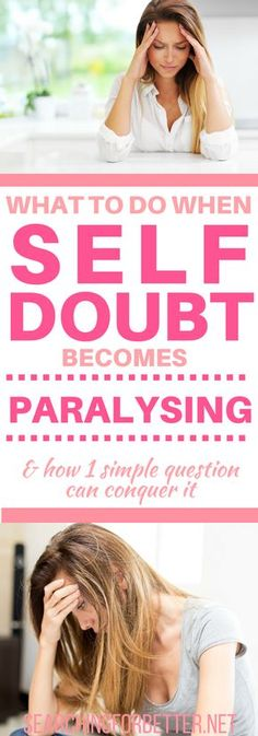 Great tips on overcoming self doubt by Cristina - a successful woman and mother. She used one simple question to put into perspective her self doubt about her life and her feelings. A simple but empowering question that is great to use if you're feeling held back by negative thoughts and feelings.