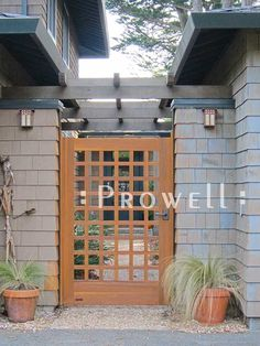 Prowell woodworks garden gate style #60