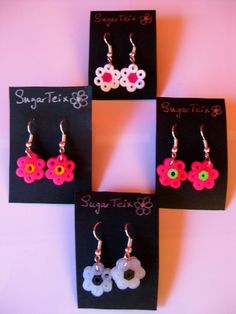 Pendientes colgantes de florecillas.  Si te gustan puedes adquirirlos en nuestra tienda on-line: http://www.sugarshop.eu