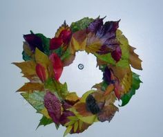 Wreaths are not just for winter. Get creative with a fall wreath! It is an easy way to decorate your home for the fall season.