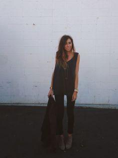 ivanarevic // wearing @Abby Christine Burnett royale tank + @Billabong jacket + @Paige Hereford Hereford Denim 'skyline' + @Sam McHardy McHardy Edelman 'petty'