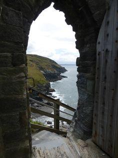 Entrance to the Island Courtyard on Tintagel Island, Tintagel Castle, Cornwall. (Photo: WendyJames ~ August 2015)