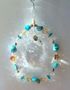 Sun Catcher Sand and Sea by DancingRainbows, $40.00 USD #shoppershour #craftshout #zibbet