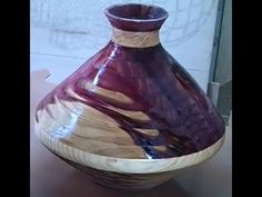 How to make a Vase using a scroll saw - YouTube