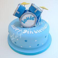 Drummers Drum Kit Birthday Cake