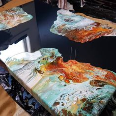 k abonnés, 98 abonnement, 535 publications – Découvrez les photos et vid… - INK PAINTING Epoxy Resin Art, Acrylic Resin, Acrylic Art, Resin Furniture, Acrylic Pouring Art, Resin Artwork, Pour Painting, Resin Crafts, Diy Art