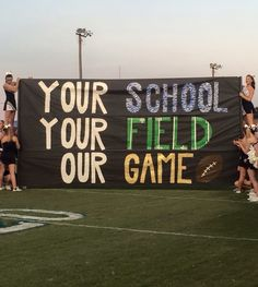 SCHS and Gordonsville football game run-through sign