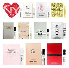 11 Women's Designer Fragrance Vial Sample Set Lot ** Quickly view this special  product, click the image : Travel Perfume and fragrance