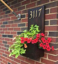 Daytime Blue Ridge DIY — Potentially Chic DIY Home Address Flower Box