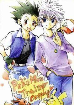 Gon and Killua cosplay. This is so cute!         ~Hunter X Hunter