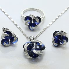 http://gemdivine.com/women-blue-ball-shaped-crystal-earrings-necklace-ring-925-mark-silver-plated-jewelry-set-wedding-jewelry-h025/