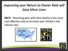Improving Your Return to Owner Rate will Save More Lives