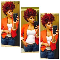 Jasmine is Naturally Glam!   Curly Nikki   Natural Hair Styles and Natural Hair Care Love her fit