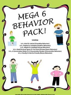 Mega 6: Behavior Pack! All 6 of my Behavior Activities Combined. Fun activities to support appropriate behavior in a wide variety of situations.
