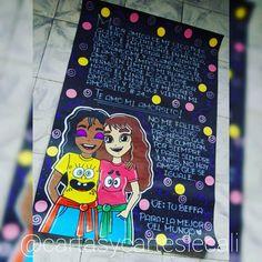Cute Boyfriend Gifts, Friend Photos, Origami, Best Friends, Happy Birthday, Kawaii, Baby Shower, Lettering, Disney